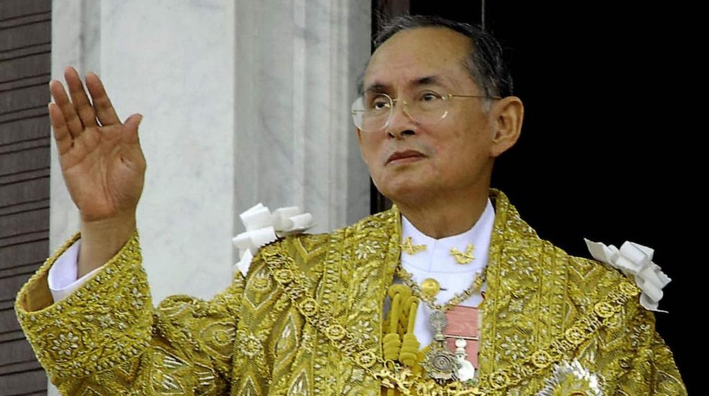 Thailands kung Bhumibol, god för motsvarande cirka 220 miljarder kronor.