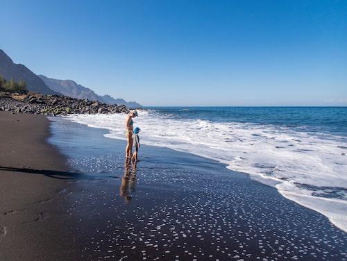 Playa de Guyaedra är en av de vackraste stränderna på hela Gran Canaria.