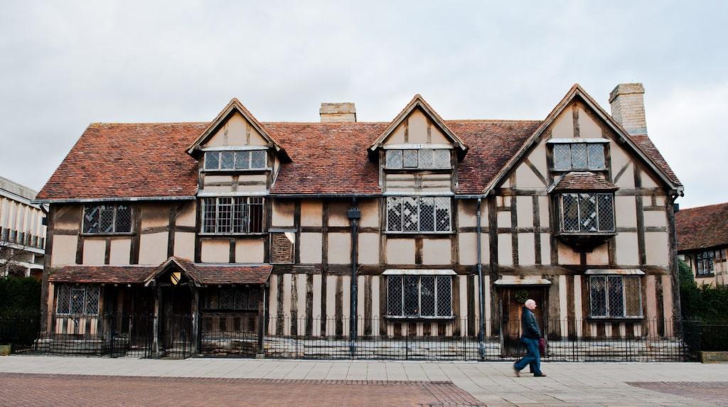 Här bodde Shakespeare.