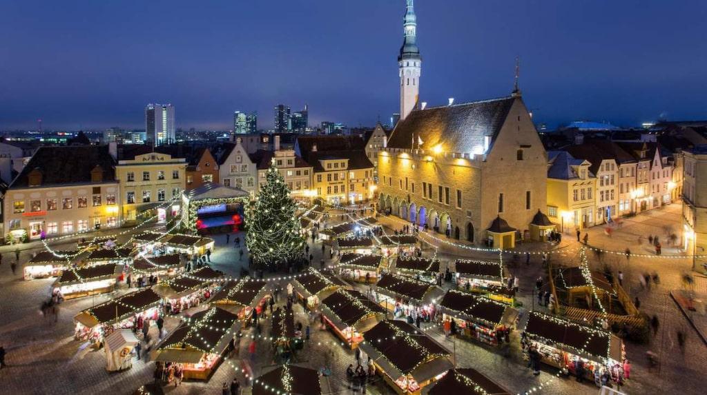 Julmarknad i Gamla stan, Tallinn.