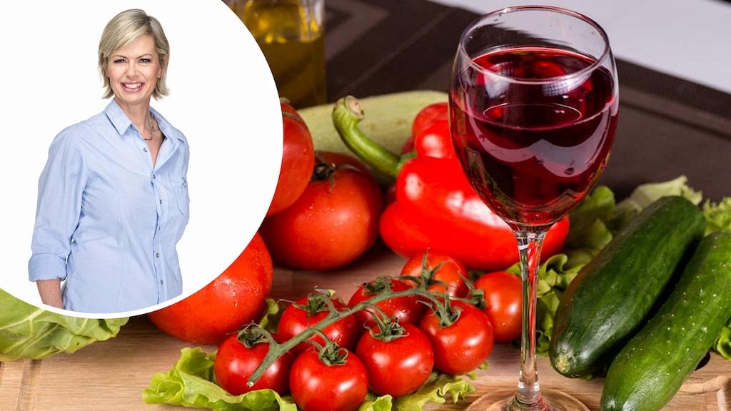 Med lite olja till grönsakerna ökar chansen för en godare vinupplevelse, tipsar Allt om Vins Gunilla Hultgren Karell.
