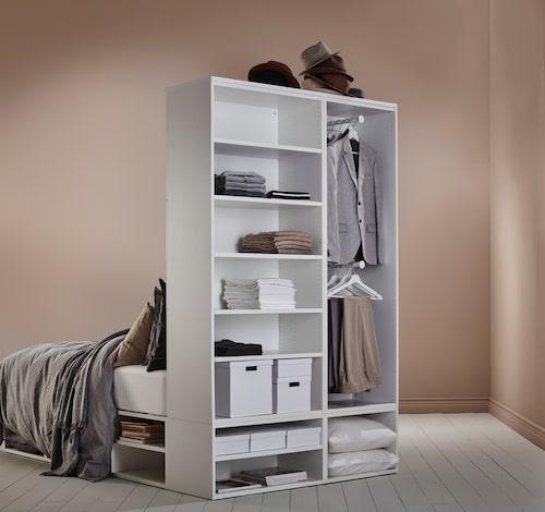 Platsa/Lätthet sängstomme med förvaring.