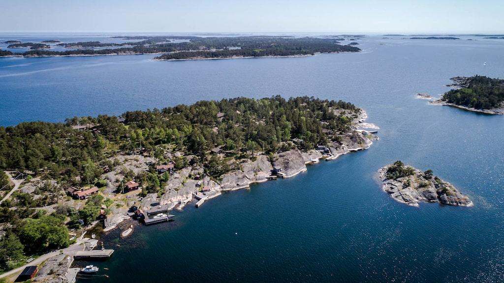 Så här ser ön ut från ovan.