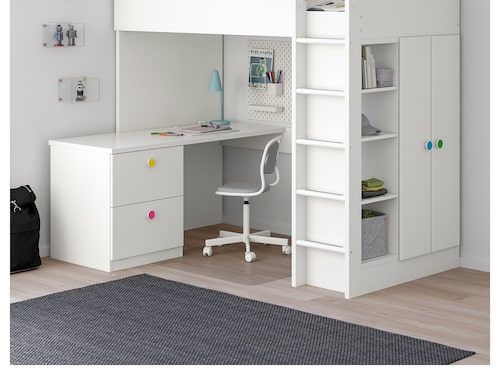 Loftsängen Stuva är i regel den dyrare Ikeamöbeln som säljs på Blocket.