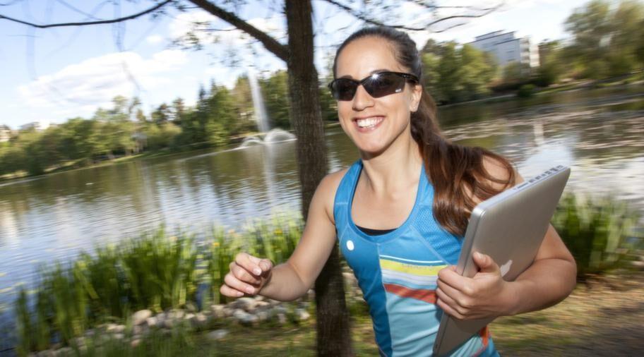 INTE UTAN MIN DATOR. Miranda Kvist skriver om sin träning på bloggen mirandakvist.se.