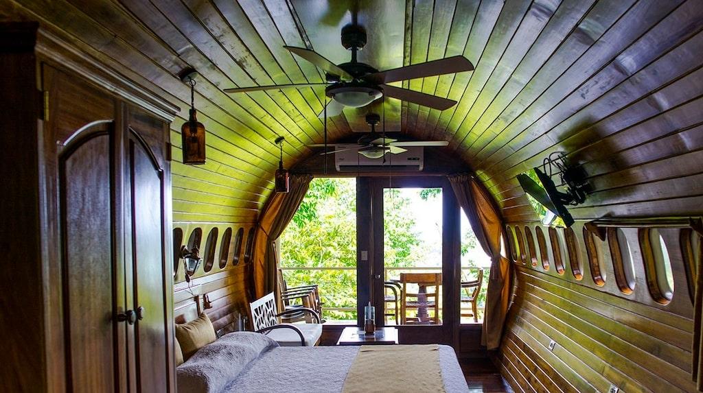 På Costa Verde kan du bo i en Boeing, mitt i djungeln.