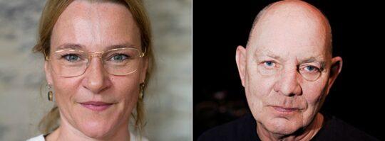 Annika Hallin och Lars Norén.