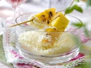 pannacotta vit choklad mango