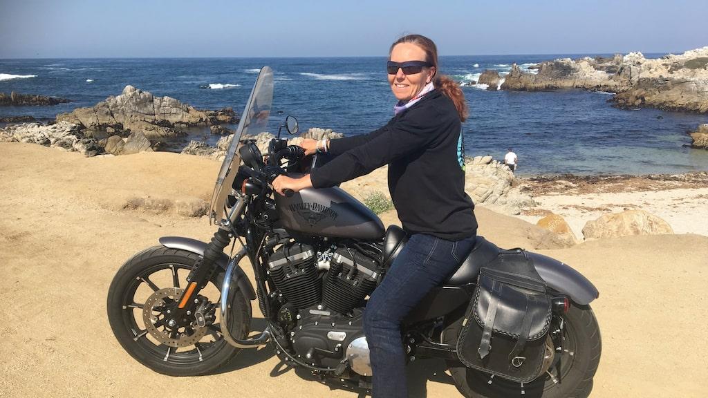 """""""Att köra motorcykel har blivit ett gemensamt intresse, jag sitter inte längre bara bak och åker med."""""""