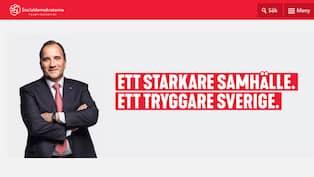 Socialdemokraternas hemsida hackades på måndagskvällen för andra gången på  kort tid. Foto  Skärmdump d54ca806ff5fe