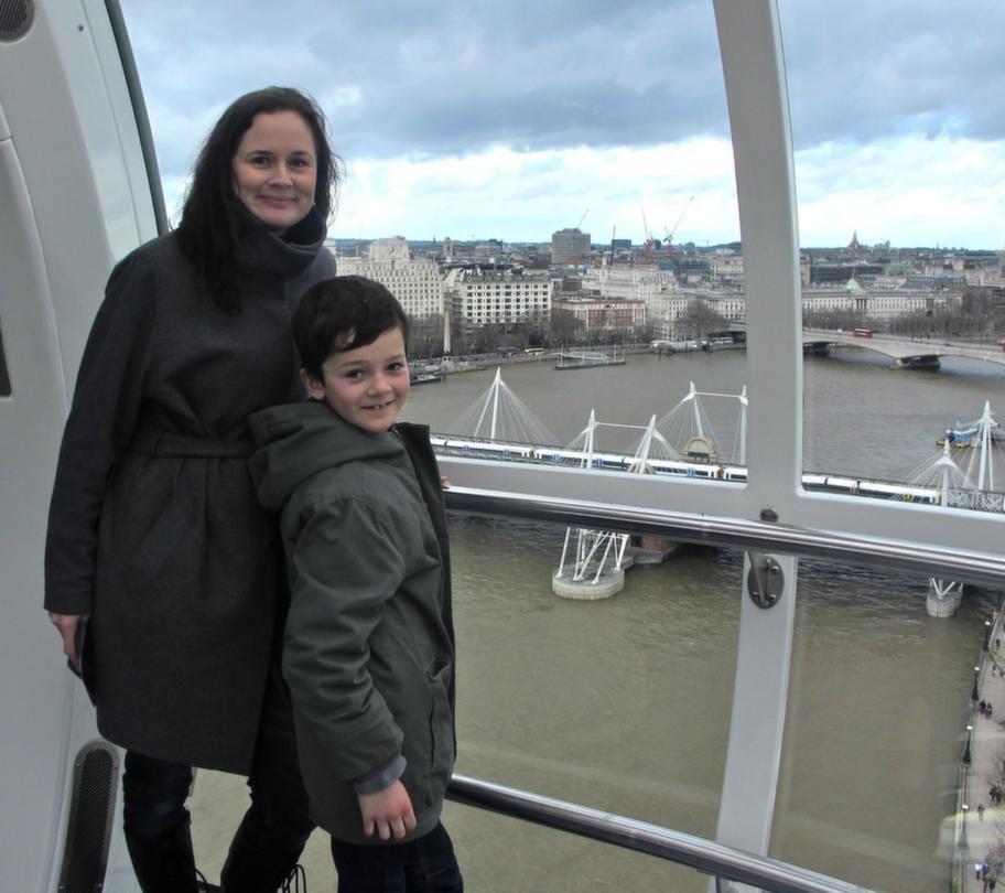 Reportern Anna Wahlgren tog med sin son Jack, 7, för att testa London.