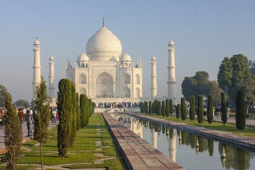 Taj Mahal, världens vackraste kärleksmonument.