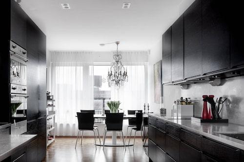 Köket och vardagsrummet på nedre plan är Börje Salmings favoritrum.