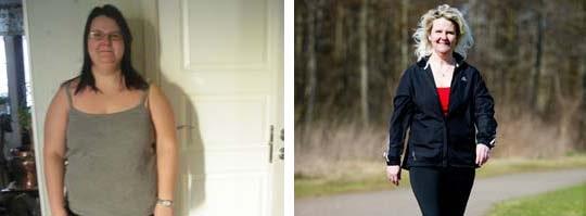 Tidigare kunde Veronica Svensson skämmas för att vara med på bild. Nu tycker hon att det är kul att visa vilken skillnad promenaderna har gjort.