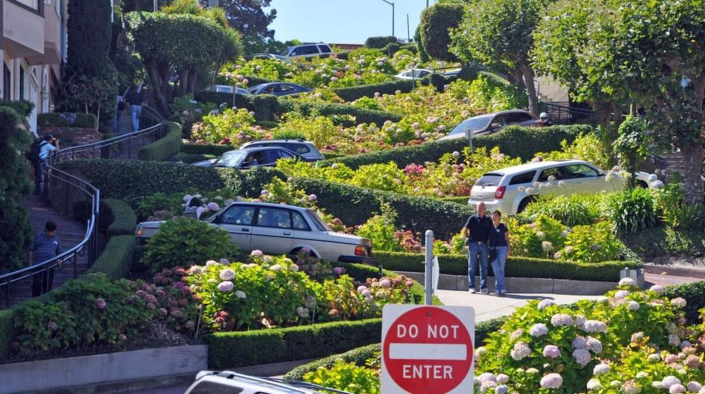 <p>Lombard Street – världens krokigaste gata.</p>