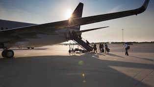 följa flygplan landvetter