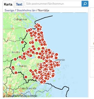 Karta Over Postnummer Sverige.Stockholm Postnummer Karta Klippdesign