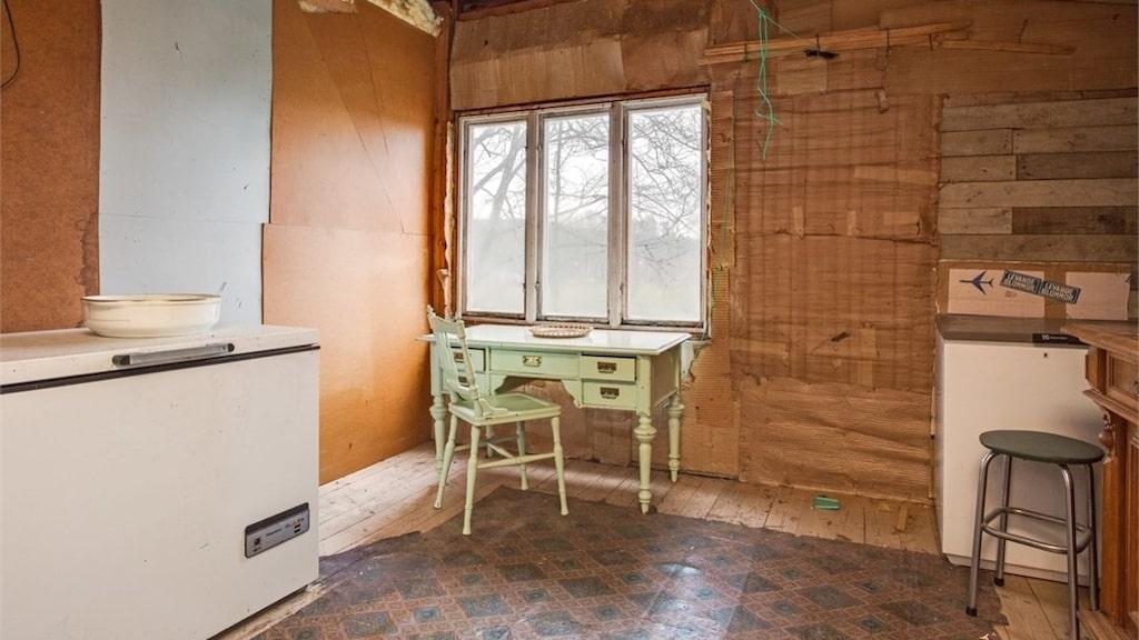 Många av möblerna står kvar.
