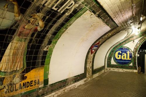 Chamberí metro station, en bevarad tidskapsel sedan tidigt 1920-tal.