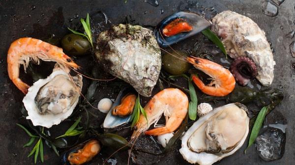 Selen finns i fisk, skaldjur, kött och mjölk