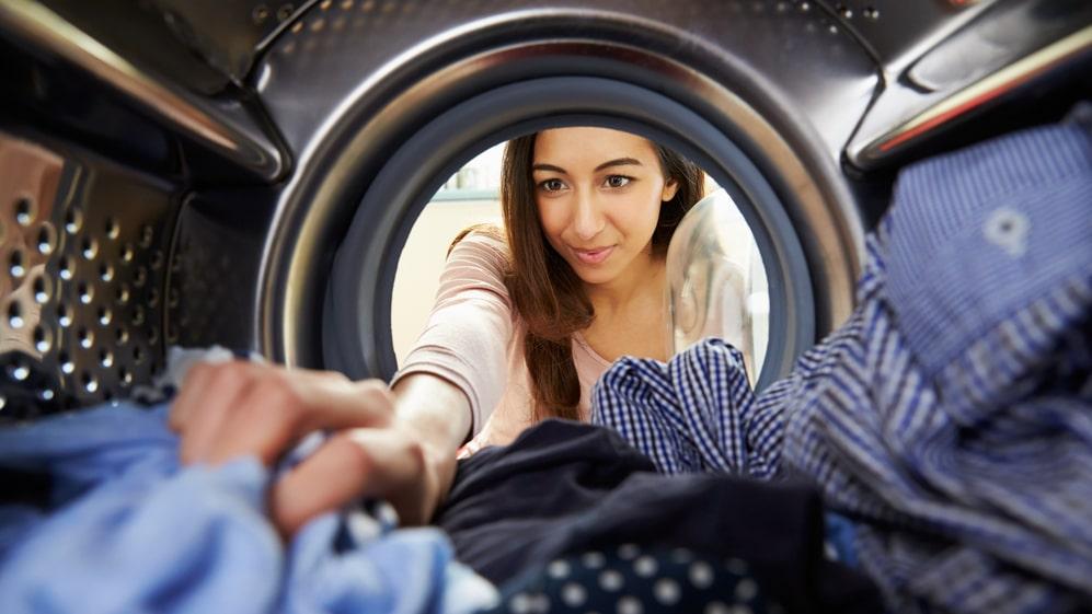Se till att fylla hela tvättmaskinen om du ska tvätta!