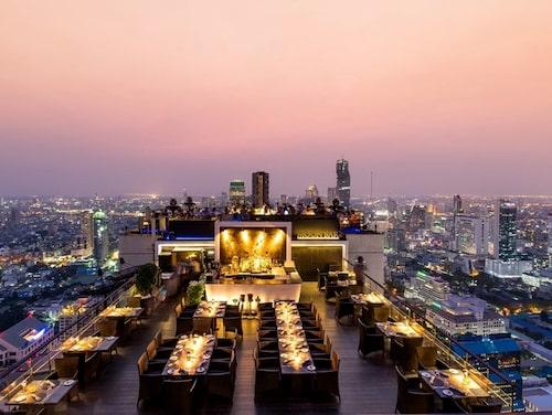 Banyan Tree Bangkok har ett antal gourmetrestauranger, bland annat den på 61:a våningen.