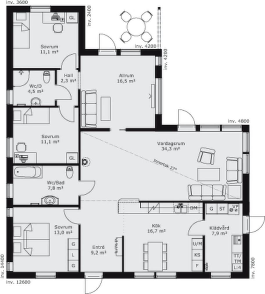 Fakta<br>Namn: Karisma 21<br>Typ: 1-planshus med fem rum och kök på 139,7 kvadratmeter.<br>Pris: 2 300 000 kronor i 6 464 kronor kvadratmetern<br>Husföretag: Borohus borohus.se