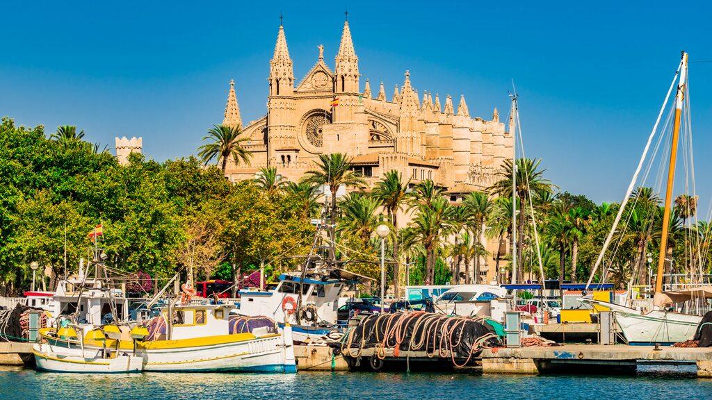 Marinan och katedralen i Palma.