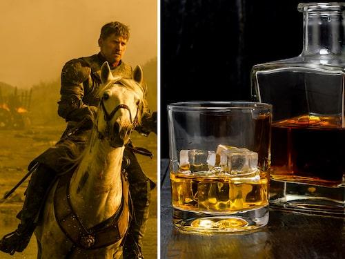 """Jamie drar en lans för drinken """"Gold Rush""""."""