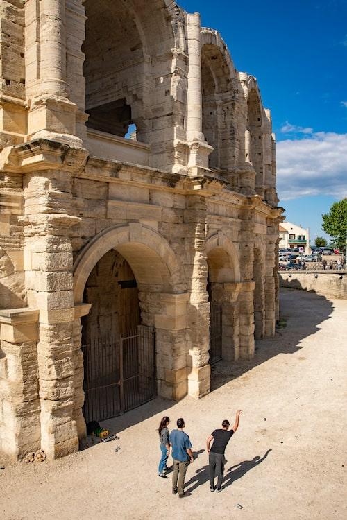 Magnifika romerska lämningar i Arles.