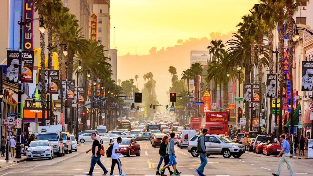 Los Angeles, ett säkert resmål enligt statistiken.