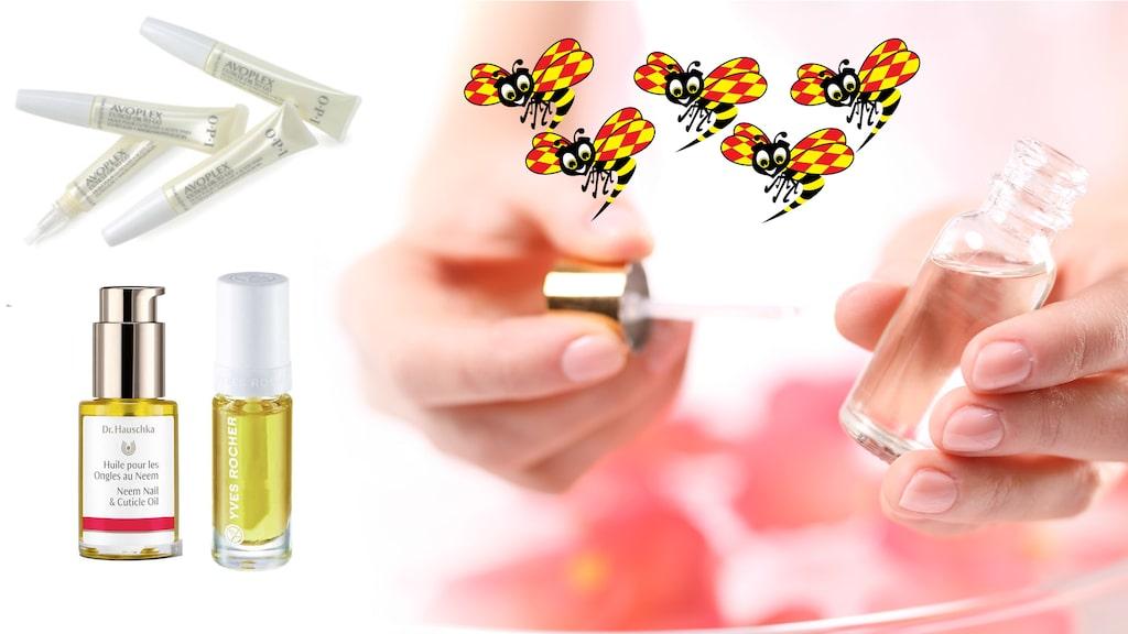 Häng med i testet av tre nageloljor – klicka vidare i bildspelet för större bilder på testade produkter.