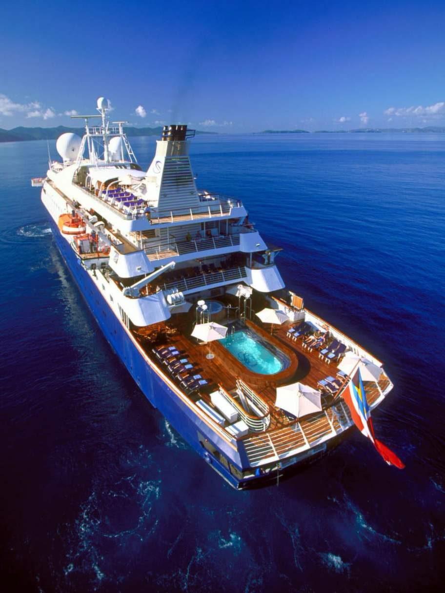 Bästa service får du på Seadream Yacht Club.