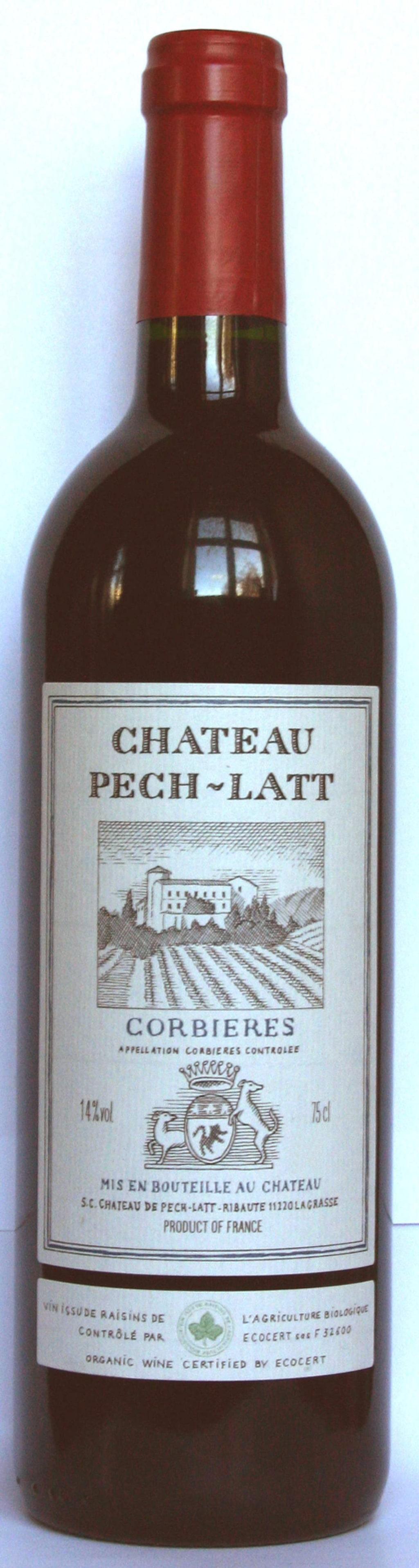 """Rött<br><strong>Château Pech-Latt 2013 (2233) Frankrike, 99 kr</strong><br>Ungt och vitalt med toner av saftiga plommon, hallon, örter och ett lätt pepprigt inslag. Fint till kalvstek med kantarellsås.<br><exp:icon type=""""wasp""""></exp:icon><exp:icon type=""""wasp""""></exp:icon><exp:icon type=""""wasp""""></exp:icon><exp:icon type=""""wasp""""></exp:icon><exp:icon type=""""wasp""""></exp:icon>"""