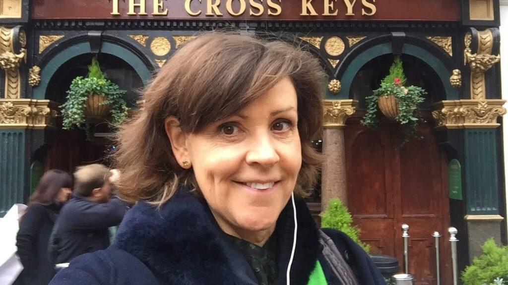 Lottie Knutson i London.
