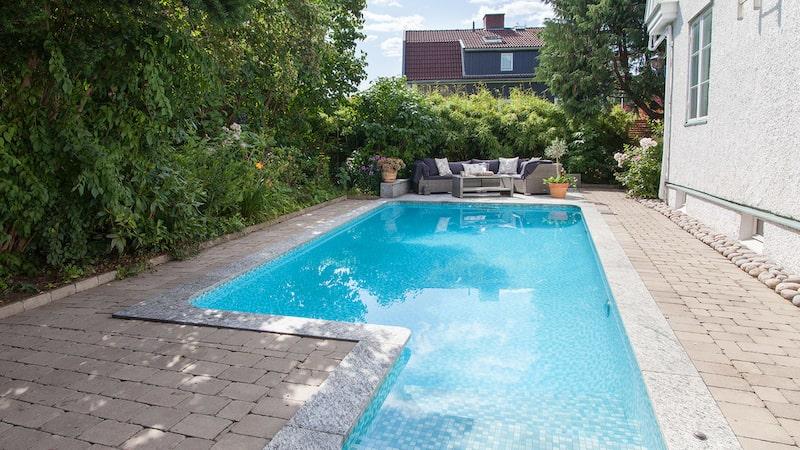 Här finns ett eget poolområde.