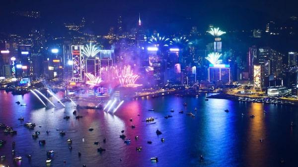 Hongkong har nyårsfirande i världsklass.