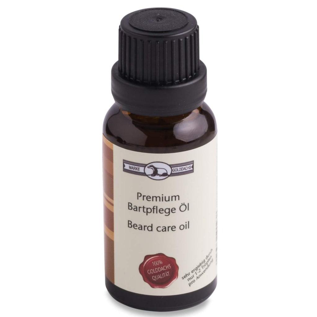 "<p>Skäggolja från Pfeilring, 20 ml, 199 kronor på <a href=""http://www.militusmedical.se/pfeilring-golddachs-premium-beardcareoil"">Militusmedical.se</a>.</p>"
