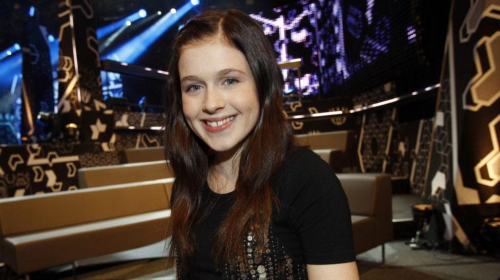 <p>Amy Diamond under Melodifestivalens deltävling i Skellefteå, 2009. </p>