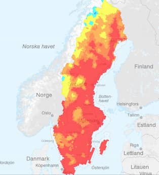 Karta Over Skogsbrander I Sverige.Har Ar Skogsbranderna I Sverige 80 Platser Drabbade