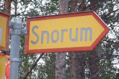 Snorum – bara skylten finns kvar.