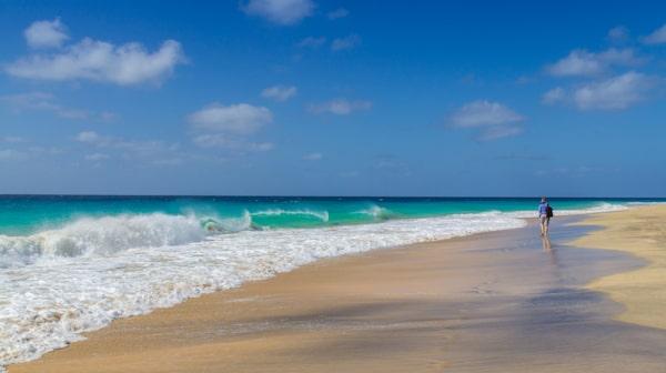 Sol, bad och färsk fisk på Kap Verde.