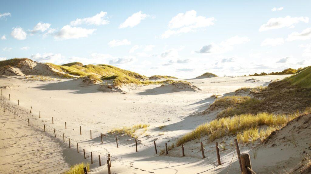 Lebas största tillgång är nationalparken Slowinski med sina unika vandrande sanddyner. Den ligger en dryg mil söder om själva orten.
