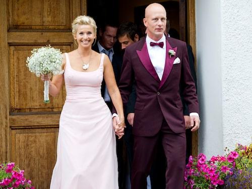 Tina Nordström gifte sig med Martin Holmqvist 2011.