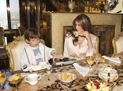 Morgonstund. Frukost hos familjen Trump.