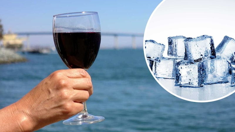 Is i rödvinet en het sommardag - det kan till och med göra vinet godare enligt Allt om Vins Andreas Grube.