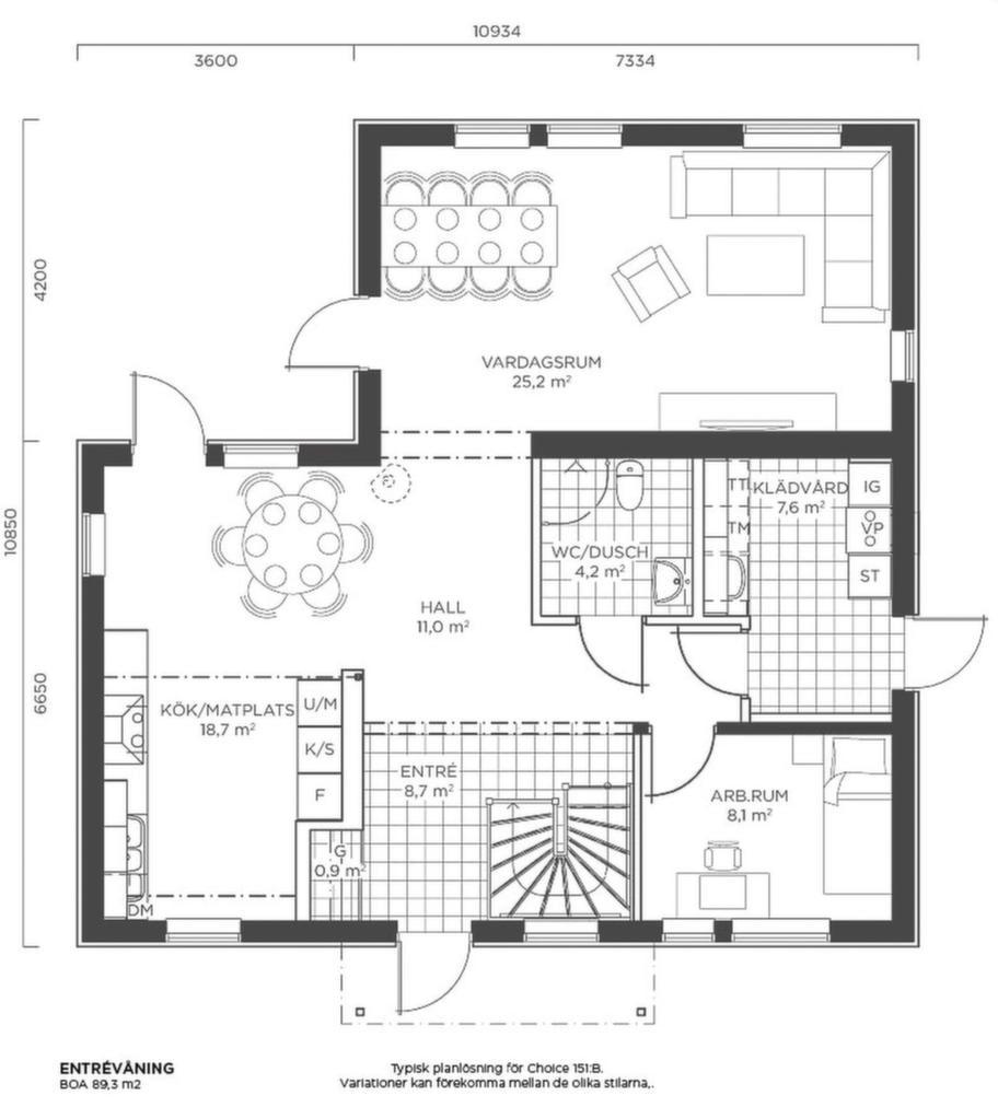 Fakta<br>Namn: Choice 151 NE:B<br>Typ: 2-planshus med sex rum och kök på 150,6 kvadratmeter.<br>Pris: 2 744 000 kronor. 18 220 kronor kvadratmetern.<br>Husföretag: LB-hus lbhus.se
