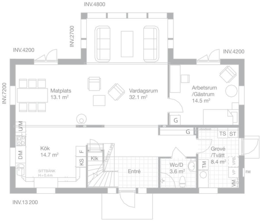 Fakta<br>Namn: Hilton Head<br>Typ: 1,5-planshus med förhöjt väggliv med sex rum och kök på 192 kvadratmeter.<br>Pris: Villan är nylanserad och priset är ännu inte fastställt.<br>Husföretag: Myresjöhus myresjohus.se