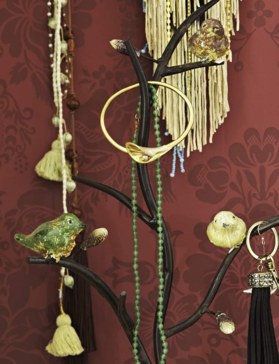 Smyckesträd med fåglar, fin dekoration. Smyckesträd från Nordal.
