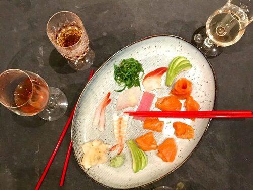 Sushi och orange vin var ingen höjdare.